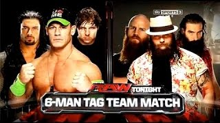 Download WWE 2014 Raw John Cena, Dean Ambrose & Roman Reigns Vs The Wyatt Family Video