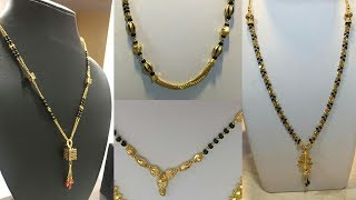 Download Light Weight Gold and Black Beads Mangalsutra Designs Video