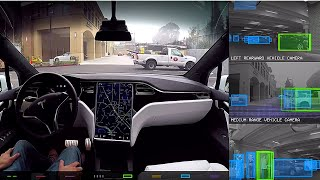 Download Tesla Model X - Self driving incl. Tesla Vision feed Video