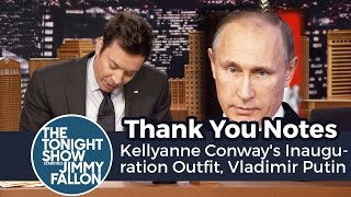 Download Thank You Notes: Kellyanne Conway's Inauguration Outfit, Vladimir Putin Video