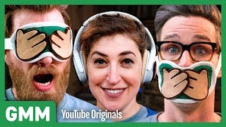 Download 3 Monkeys Blindfold Challenge ft. Mayim Bialik Video