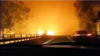 Download Las llamas invaden las carreteras: ″Dios mío, esto es horrible″ Video
