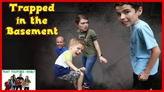 Download TRAPPED in BASEMENT - Exploring CREEPY Old Basement! / That YouTub3 Family Video