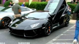 Download Black Lamborghini Aventador LP 700-4 and White Lamborghini Aventador LP 700-4 Video