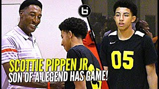 Download Scottie Pippen's Son Watching Too Much Steph Curry! Scottie Pippen Jr at Nike Elite 100! Video