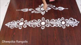 Download simple side border rangolis border kolams sides rangolis border rangoli designs Video