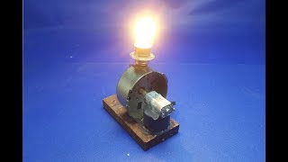 Download Experiment electricity generator using dc motor - free energy mini at home Video