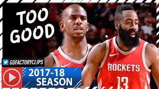 Download Chris Paul & James Harden Full Highlights vs Warriors (2018.01.20) - 55 Pts Combined, NASTY! Video