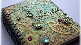 Download Steampunk Mixed Media Journal Cover Tutorial Video