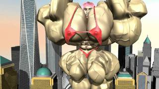 Download 3d animation of Female Bodybuilder - Muscle Growth at the WTC Video