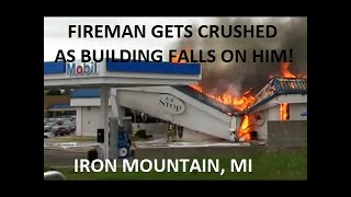 Download Commercial Structure Fire At Mobil & Burger King, Iron Mountain, MI | Jason Asselin Video