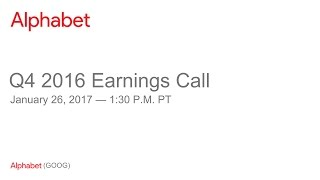 Download Alphabet 2016 Q4 Earnings Call Video