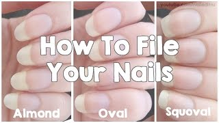 Download How To File Your Nails | Almond, Oval & Squoval Video