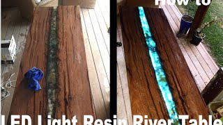 Download LED epoxy resin river table Video