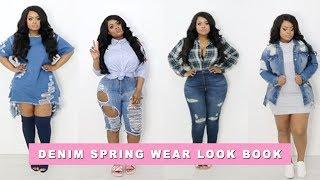 Download Plus size | Curvy Girl Denim Spring Lookbook FT. Fashion Nova | Edee Beau Video