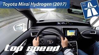 Download Toyota Mirai Hydrogen Fuel Cell (2017) on German Autobahn - POV Top Speed Drive Video