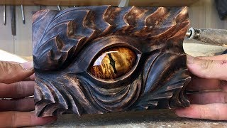 Download Smaugs Eye wood carving art project | A tribute to J.R.R Tolkien by Jonasolsenwoodcraft Video