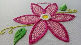 Download Hand Embroidery: Honeycomb Stitch Flowers | Bordados a mano: Flores en Puntada Panal | Artesd'Olga Video