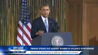 Download Obama speaks out against Rohingya violence in Myanmar Video