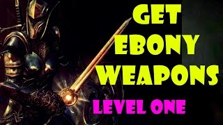 Download Skyrim Remaster: EBONY Bow & Great Sword at LEVEL ONE (Best Weapons Start Guide) Video