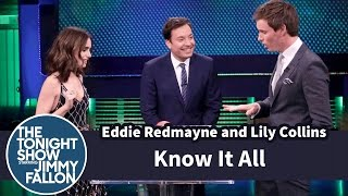 Download Know It All with Eddie Redmayne and Lily Collins Video