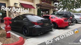 Download BRUTAL Rev Battle! Shelby GT500 vs Lexus RCF! Video