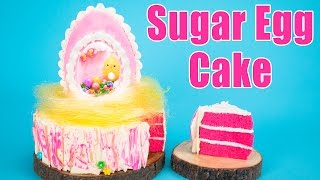 Download How to Make an Easter Egg Cake (Panoramic Sugar Egg Recipe) Video