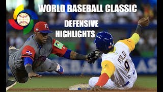 Download WBC | 2017 World Baseball Classic | Defensive Highlights Video