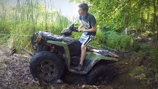 Download FREEING THE BEAST! Mudding Rescue Using a Come-A-Long! Lifted Polaris Sportsman 800 4x4 Off-Roading! Video