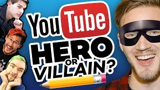 Download Drawing YOUTUBERS as HEROES and VILLAINS! Video