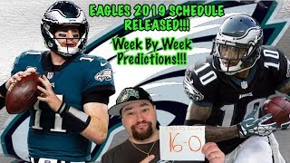 Download Philadelphia Eagles 2019 Schedule Release Reaction | Record And Week By Week Predictions Video