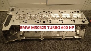 Download BMW M50B25 600 hp turbo cylinderhead build. Video