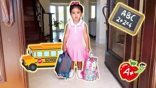 Download ELLE'S FIRST DAY OF SCHOOL!!! (THE CUTEST BABY STUDENT) Video