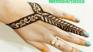 Download Easy Beautiful Stylist Border Mehndi Designs For Hands:Latest Jewelry Mehendi By MehndiArtistica Video