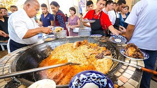Download Street Food in Uzbekistan - 1,500 KG. of RICE PLOV (Pilau) + Market Tour in Tashkent! Video