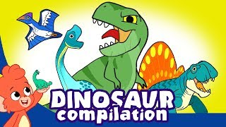 Download Learn Dinosaurs for Kids   Cute and Scary Dinosaur Cartoons   t rex Triceratops   Club Baboo Video