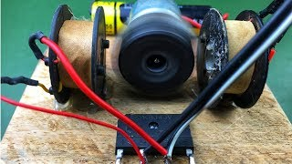 100% work free energy using dc motor with battery 3 7V