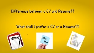 Download Difference between CV and Resume Video