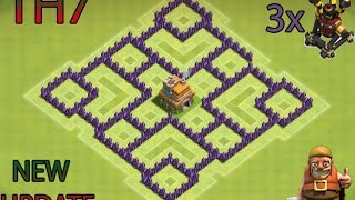 Download CLASH OF CLANS- TH7 FARMING BASE BEST TOWN HALL 7 DEFENSE WITH 3x AIR DEFENSES Video