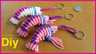 Download Diy macrame shrimp keychain gantungan kunci udang by nasiudug Video