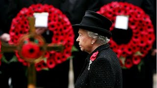 Download Queen leads Remembrance Day tributes at the Cenotaph Video