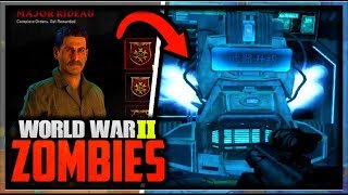 Download ″The Shadowed Throne″ Double Pack-a-Punch Easter Egg & Contracts! (Call of Duty WW2 Zombies DLC 2) Video