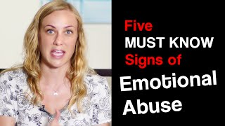 Download 5 MUST KNOW SIGNS of EMOTIONAL ABUSE - Mental Health talk w Kati Morton about neglect therapy stress Video