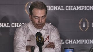 Download Hear what Nick Saban said after Alabama's last-second loss to Clemson Video