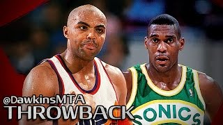 Download Charles Barkley vs Shawn Kemp PF Duel 1993 WCF Game 5 - Kemp With 33, Barkley With 43-15-10 TD! Video
