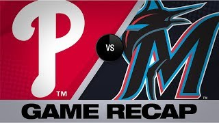 Download Marlins explode for 19 runs in win over Nats | Phillies-Marlins Game Highlights 8/23/19 Video