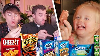 Download British Priest and Baby Try American Snacks for the First Time!? Video