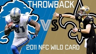 Download Lions vs. Saints (2011 NFC Wild Card) | Brees Outlasts Calvin Johnson | NFL Classic Highlights Video