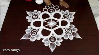 Download 5x3 dots kolam design for Friday morning - Beautiful Rangoli designs - chukkala muggulu Video