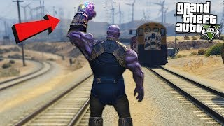 Download THANOS DESTROYS TRAIN w/ INFINITY - GTA 5 Mods Video